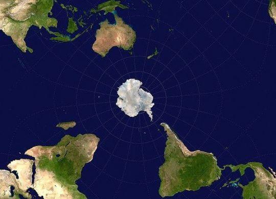 World antartica as center