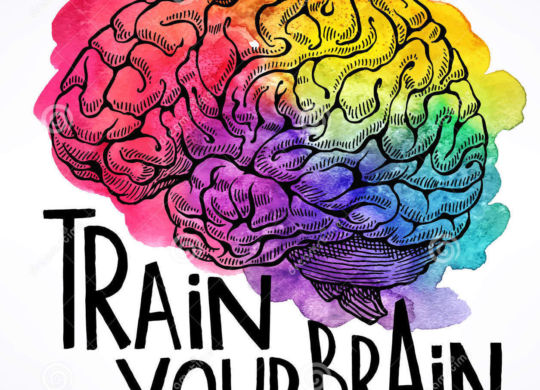 train-your-brain-beautiful-card-human-motivational-quote-hand-drawn-illustration-60096317